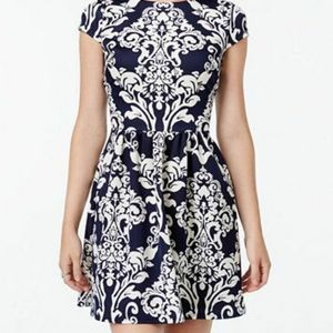 B Darling black and off white cocktail dress